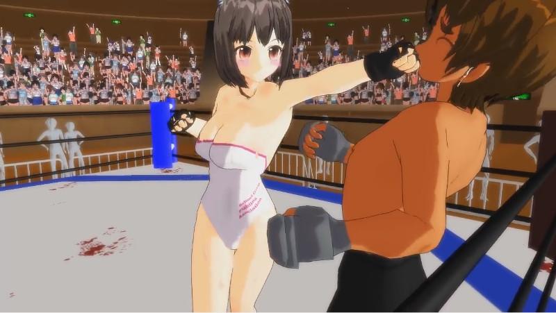 【二次元動画】格闘美女にボコボコにされる2