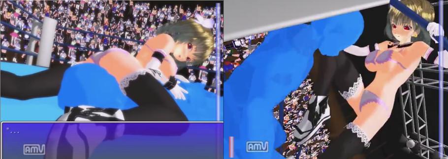 【二次元動画】格闘美女にボコボコにされる4