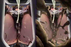 【二次】バーチャル人間便器・放屁等 二次元M男画像