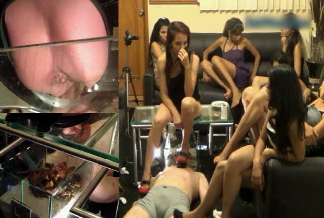 女性集団の人間便器拷問 入れ替わり立ち代わり容赦なく糞尿を食わせる Part.3