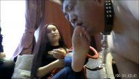 中国S女2人組のビンタ・強制脚舐め