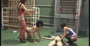 残虐な二人の女王による公開奴隷調教 肛門編 桜田さくら・ミュウ
