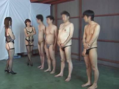 2人のドS女王による素人M男集団飼育 桜田さくら・立木ゆりあ