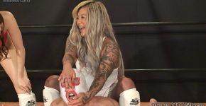 格闘ジム最強女トレーナー達の新入男鉄拳制裁