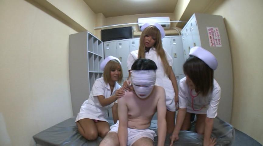 本物白衣・黒ギャルナース マシンガンぺニバンM男(患者)ファック BYD-111
