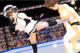 【二次元M男動画】格闘美女にボコボコにされる7 逆リョナ