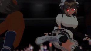 【二次元M男動画】格闘美女にボコボコにされる9 逆リョナ