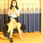 中国の素人美女によるプライベートM男脚調教