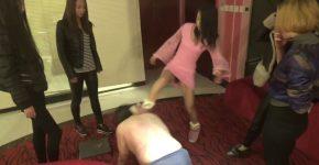 中国女子5人組のM男集団暴行