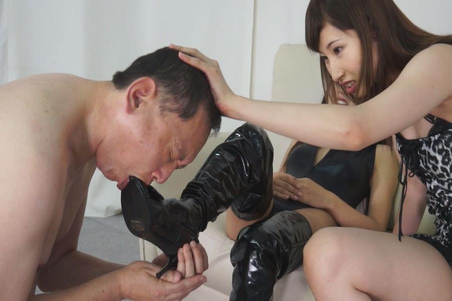 安達メイと日高結愛のM男調教遊戯