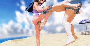 【逆リョナ】格闘美女にボコボコにされる10