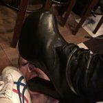 素人美女に踏まれて靴舐め掃除するマゾ男 @踏まれルーちゃん