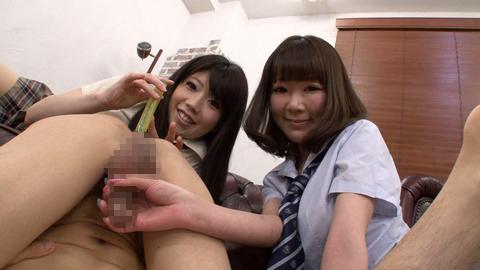 ロリ顔JK2人組みにアナル責め! 葵なつ 若葉りか 02