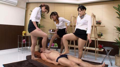 M男専門美脚マッサージ店 Featuring 松すみれ、野口まりや、新山かえで 01