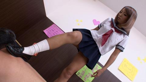 女子校生やりすぎ足踏みマッサージサロン 杏紅茶々 画像 03