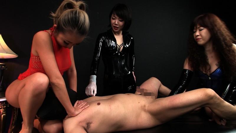 本格女王様二人とドS黒ギャルに囲まれ 性感イジメ嬲り穴棒同時イキの壮絶映像 画像 09