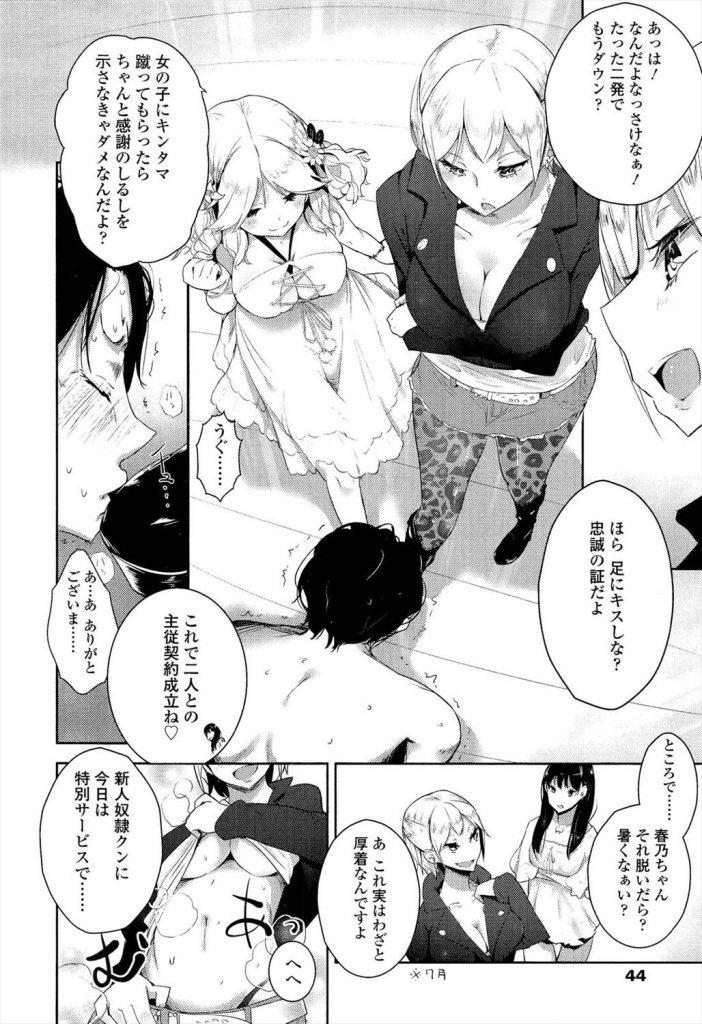 女子大生のM男リンチ拷問遊び《前編》 M男漫画 06