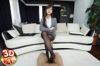 黒パンスト穿いたドS上司 星奈あい VR画像 03