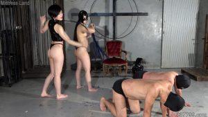 雄奴隷2匹と雌奴隷1匹と便器専用黄金奴隷の躾け折檻部屋 4